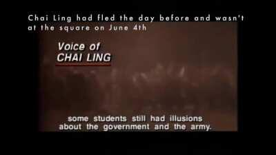 Excerpts of interviews with Tiananmen Square protest leaders Chai Ling, Hou Dejian, and Liu Xiaobo (Nobel Peace Prize laureate)