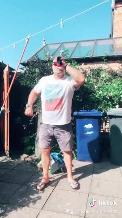 Bottle bounce challenge fail!