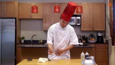 Watching this chef cook