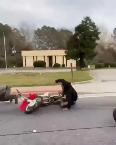 WCGW if I don't wear a belt and have my ass all out on a motorcycle?