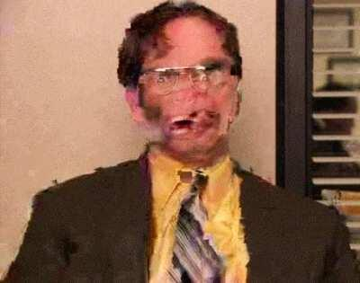 Creepiest Dwight is broken gif Dwight