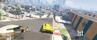 From a GTA V race with my friends