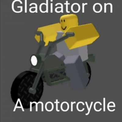 Gladiator on a motorcycle 😎