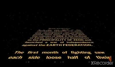 I made a Star Wars text crawl for the first Gundam movie!