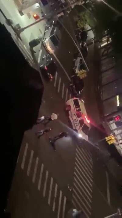 NYPD Officer was ran over by a vehicle a few minutes ago (NSFW) NYC is going through total chaos.