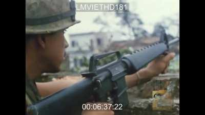 HD US Marine footage from the urban fighting in Hue during the Tet Offensive - 1968
