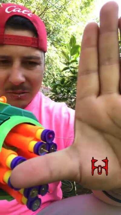 Ner gun Nipple Piercing * IG: footage_over_fear