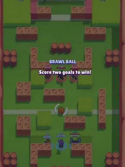 An old beta Darryl glitch in brawl ball with old gameplay!