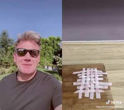 Gordon Ramsay reacts