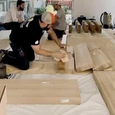 Modern stair case install
