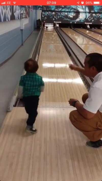 Bowling with son