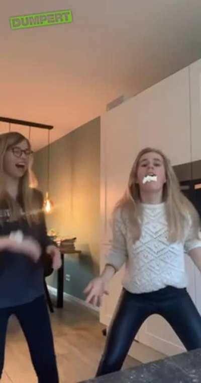 WCGW doing the whiplash cream challenge