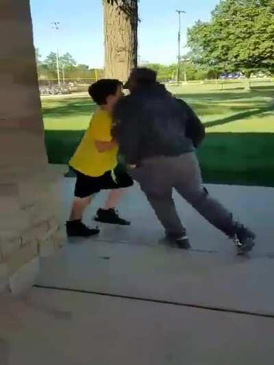 Dang that kids tough better not mess with him