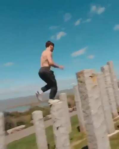 He jumps, my heart skips