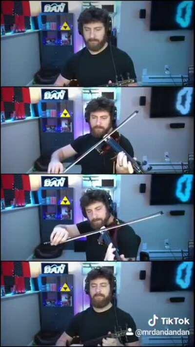 I played Scars of Time from Chrono Cross in multiple parts on my violin