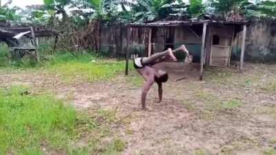This handstand trick