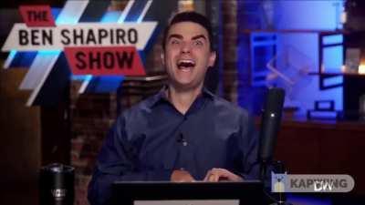 ben shapiro sounds like joaquin phoenix joker when he laughs wtf