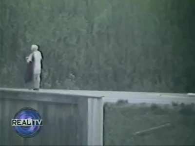SWAT takes out man who shot and killed two people and took his little brother hostage. Happened in Anchorage, Alaska in May 1993. This is the only footage of the incident I could find.