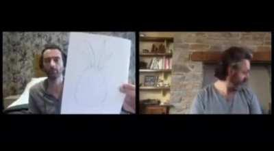 David Tennant and Michael Sheen compare art on Staged.