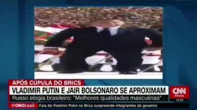 A real CNN Brazil news with wide Putin