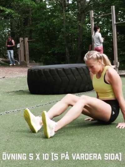 Swedish heptathlete Bianca Salming [gif]