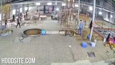 Freak Crane Accident In China