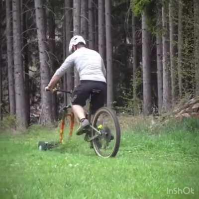 Mountain bike lawnmower