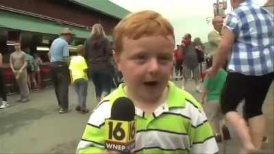 Apparently I Would Love To See This Kid As An Onsite Reporter One Day.