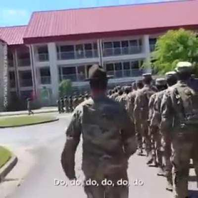 Army sings baby shark