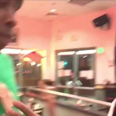 Tyler, the Creator and A$AP Rocky fucking around in a Fatburger.