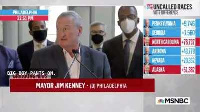 """Philadelphia Mayor Jim Kenney: """"I think what the president needs to do is, frankly, put his big boy pants on."""