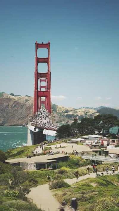 Golden Gate Bridge #BlackLivesMatter 06062020