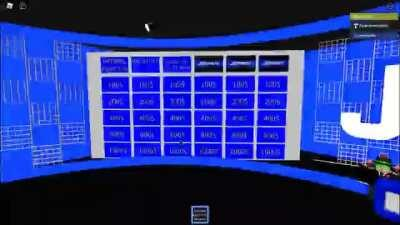 Jeopardy board fill in (See more of the stage in comments)