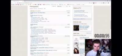 During an IMDb speed run