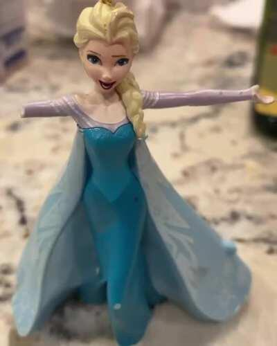 Apparently if you don't change toy Elsa's batteries for five years, it summons the dark lord