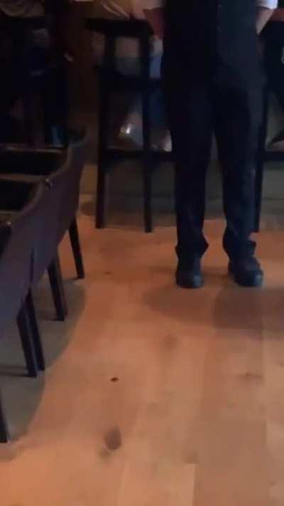 Man kicked out of Sushi restaurant for wearing sneakers.
