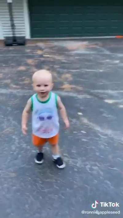 Plot twist: he's just a babysitter.