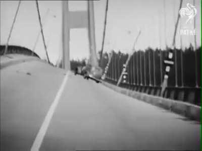 79 Years, 6 Months, and 6 Days Ago, The Main Span Of The Tacoma Narrows Bridge In Tacoma, Washington, Collapsed Due To A 42mph Wind