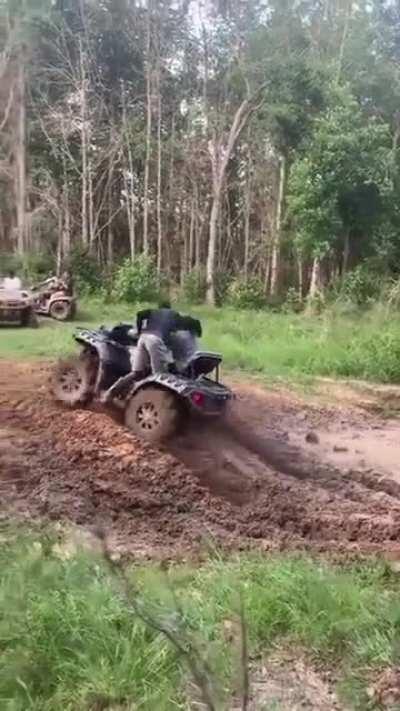 WCGW: Four wheeling through a mud hole