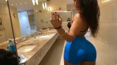 Tight Blue Booty Shorts