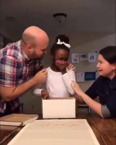 This 10-year-old girl just found out she's going to be adopted