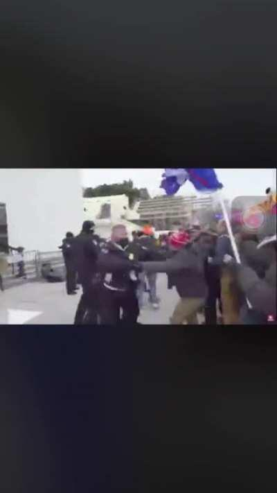 Rioters storming US Capitol