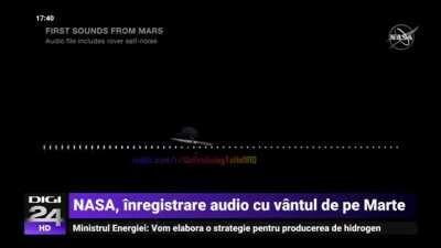 NASA, inregistrare audio cu vantul de pe Marte