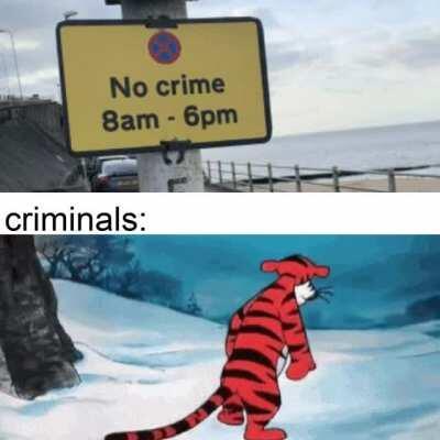 aw c'mon no crime?