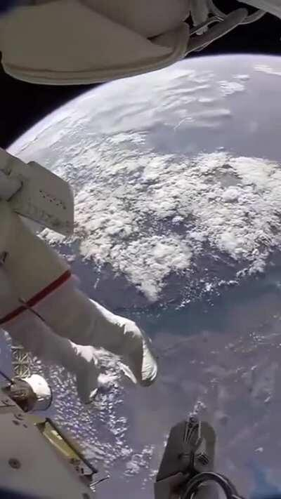 The view of earth from 250 mile up