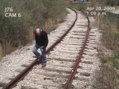 Man gets hit by train...