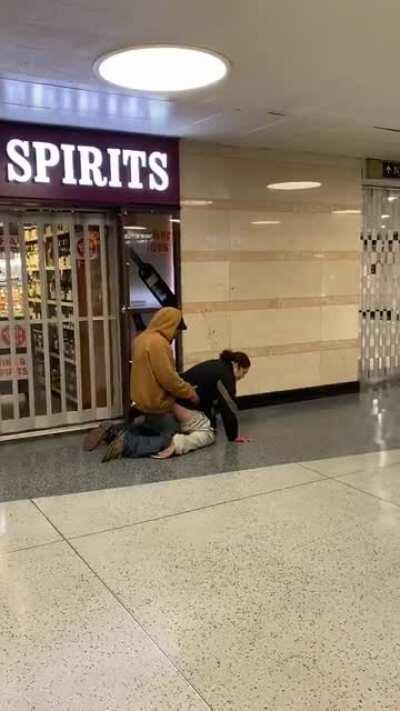 Today in Penn Station, my buddy filmed this. Ability awful