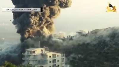 VBIED shockwave in a Syrian village