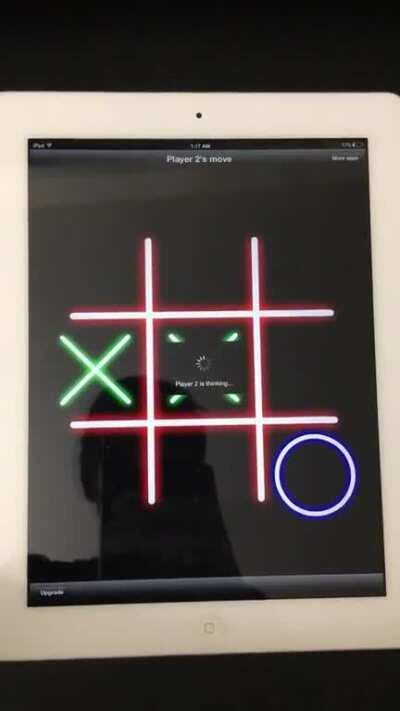 Playing tic tac toe with an idiot computer