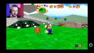 Jacksepticeye's first time playing Super Mario 64